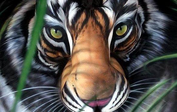 Бодиарт тигр dobrosos