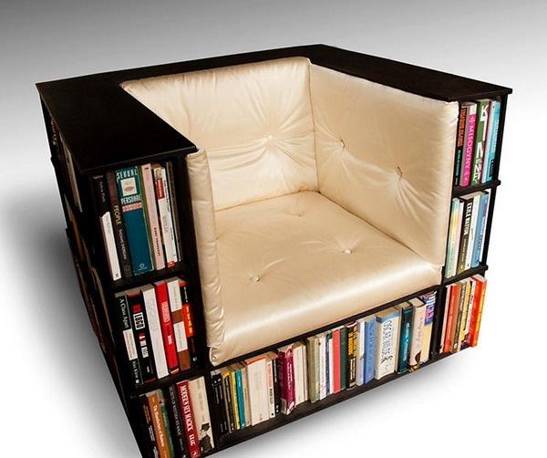 удобное место любителям читать книги фото книжное кресло книжная мебель