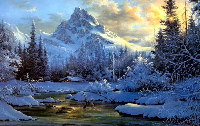 Солнечные лучи зимой красиво 5 dobrosos