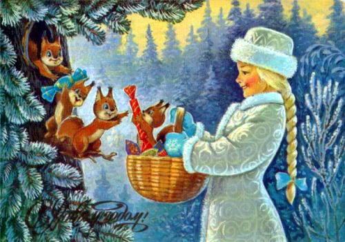 Советские новогодние открытки 15 dobrosos