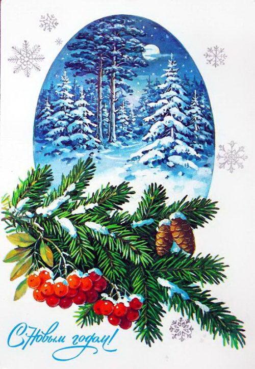 Советские новогодние открытки 40 dobrosos