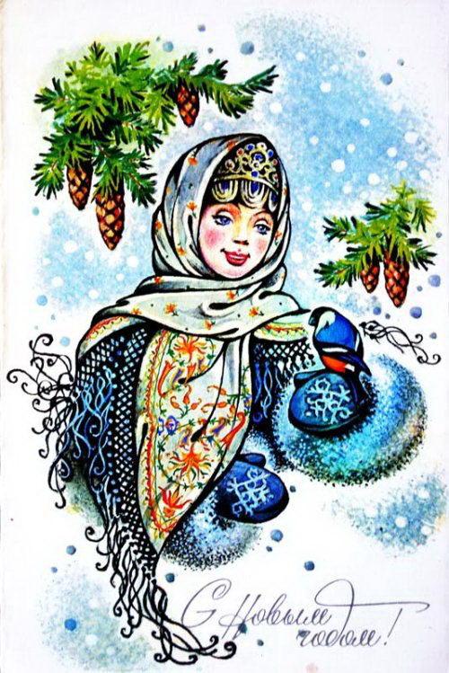 Советские новогодние открытки 43 dobrosos
