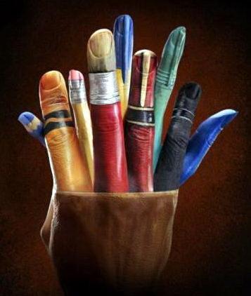 Боди-арт на пальцах и кистях рук 30 dobrosos