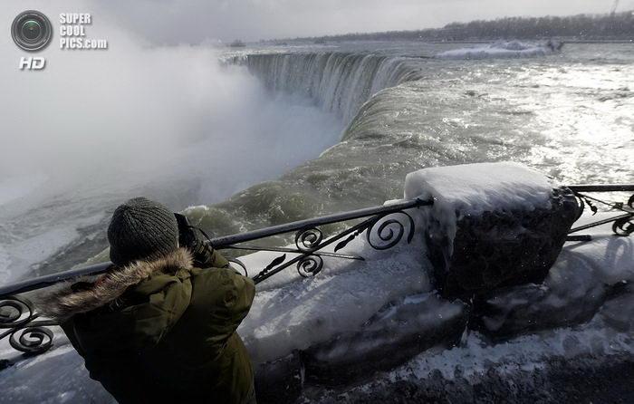 Ниагарский водопад во льдах 11 фото