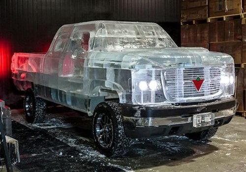 Полностью функциональный грузовик сделанный изо льда 3 dobrosos