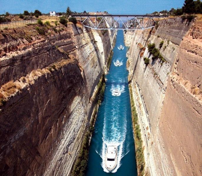 Коринфский канал в Греции 03
