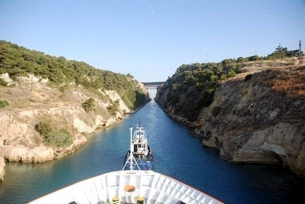 Коринфский канал в Греции 06