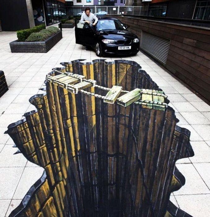 3D рисунки на полу 02