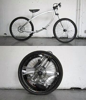Очень компактный велосипед фото