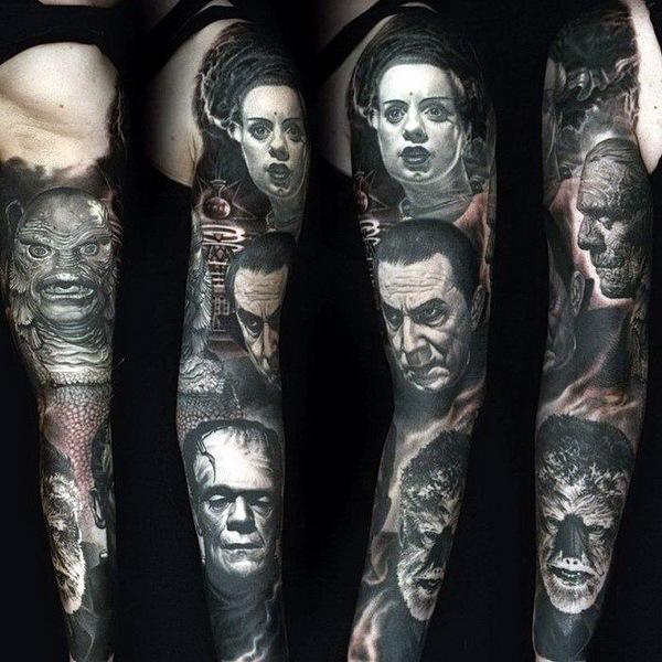 татуировки портреты 04