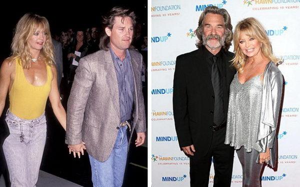 Звездные пары - Курт Рассел и Голди Хоун, вместе 32 года.