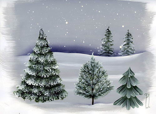 Как рисовать елки (10 фото)