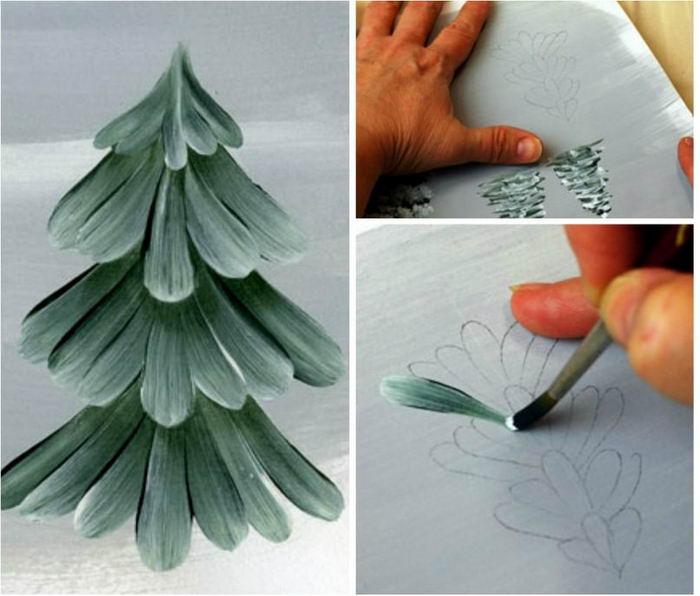 Как рисовать елочку 10