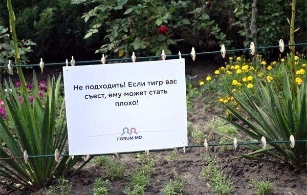таблички в зоопарке Кишинева 06