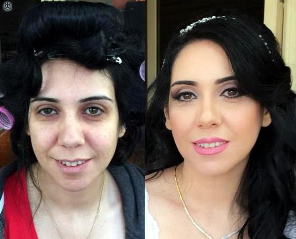 до и после преображение девушек после нанесения макияжа девушки после макияжа
