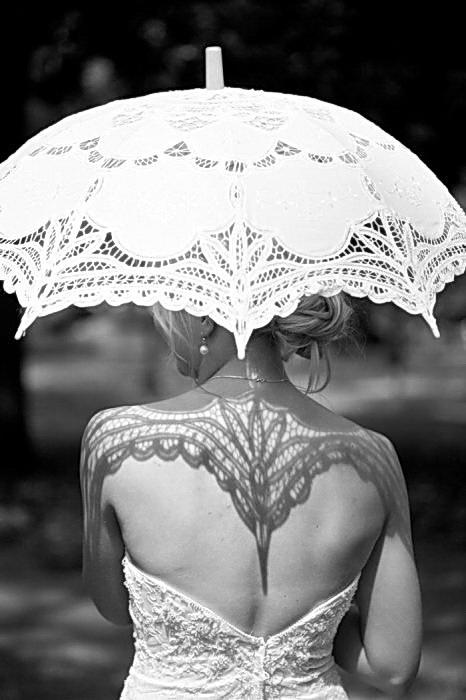 тени от зонтика