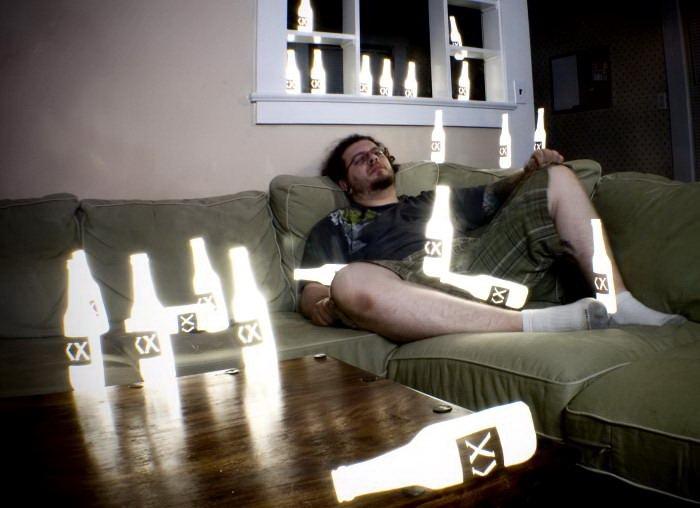 световые трафареты, фото с большой выдержкой, световые эффекты