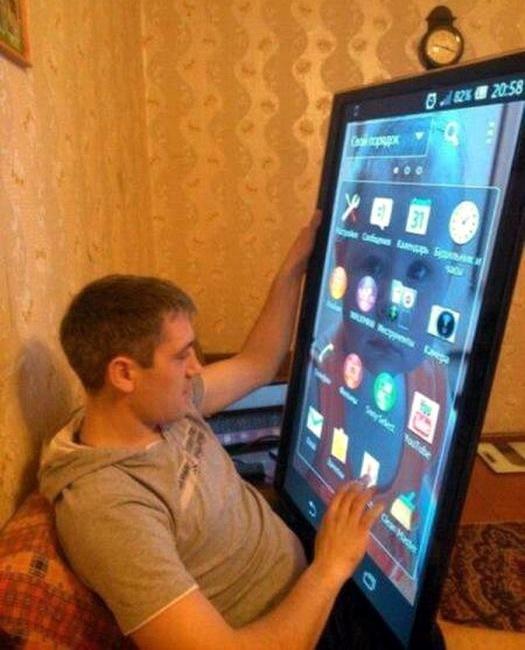 огромный мега планшет