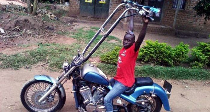длинный руль мотоцикла