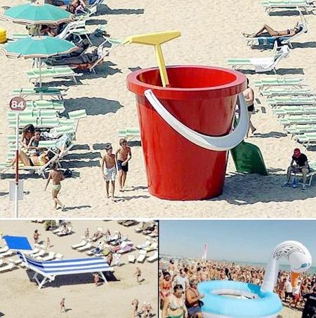 пляжные предметы больших размеров