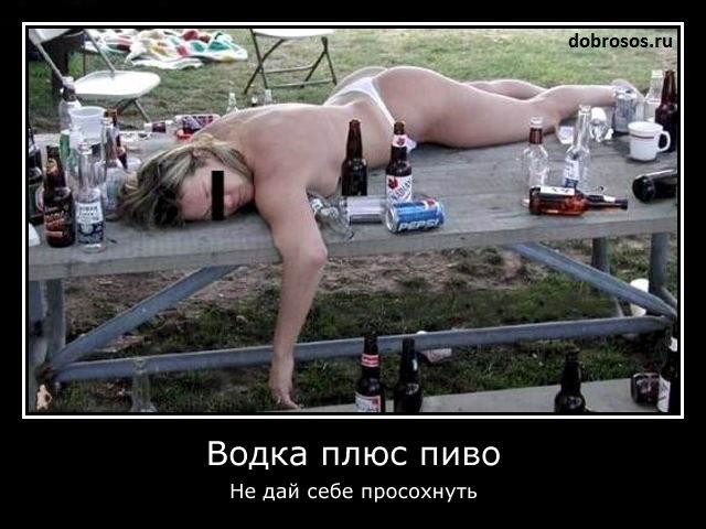 Водка плюс пиво: Не дай себе просохнуть