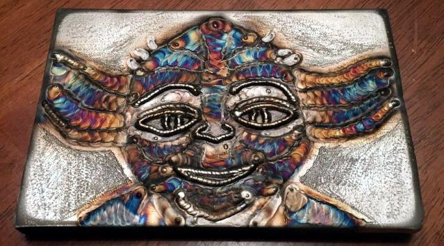 сварка как искусство сварщик от бога картины сваркой сварщик из Чикаго Ричард Лаут