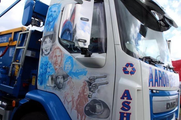 аэрография на грузовых машинах тягачах рисунки фото