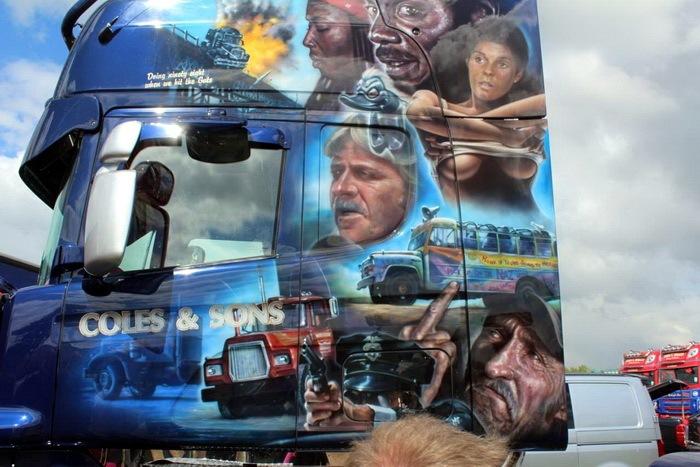 Аэрография на грузовых тягачах  Авто,Творчество и хобби