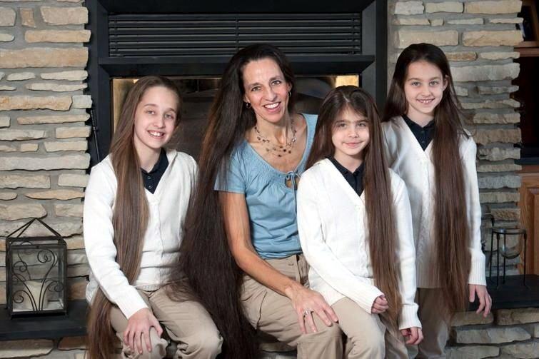 Семья с длинными волосами  Разное,интересное