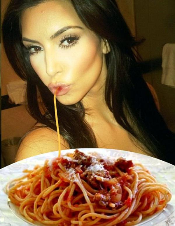 Утиные губы и спагетти  Фото приколы